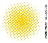 pop art yellow dot background....   Shutterstock .eps vector #588321356