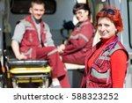 paramedic professional female... | Shutterstock . vector #588323252