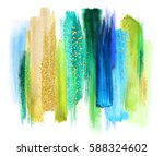 abstract artistic brush strokes ... | Shutterstock . vector #588324602