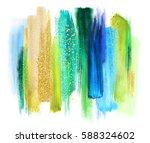 abstract artistic brush strokes ... | Shutterstock . vector #588324602