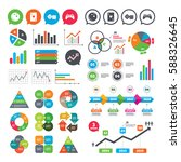 business charts. growth graph.... | Shutterstock .eps vector #588326645