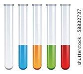 vector test tubes | Shutterstock .eps vector #58832737
