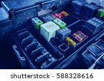 replacing fuses in the fuse box ... | Shutterstock . vector #588328616