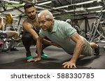 keep pushing  full length shot... | Shutterstock . vector #588330785