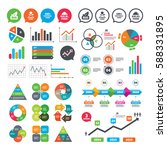 business charts. growth graph....   Shutterstock .eps vector #588331895