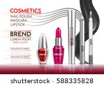 cosmetic lipstick and mascara.... | Shutterstock .eps vector #588335828