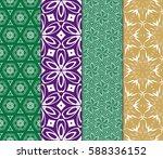 set of geometric seamless... | Shutterstock .eps vector #588336152