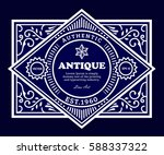 vintage vector thine line... | Shutterstock .eps vector #588337322