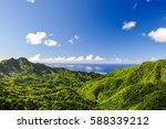 stunning panorama view from a... | Shutterstock . vector #588339212