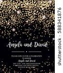 invitation for wedding ... | Shutterstock .eps vector #588341876