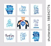 set of festive gift cards to... | Shutterstock .eps vector #588342776
