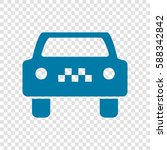 taxi cab sign illustration.... | Shutterstock .eps vector #588342842