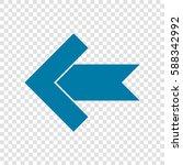 left arrow icon. vector....