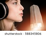 voice recording and radio... | Shutterstock . vector #588345806