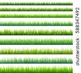 grass banners set. nature... | Shutterstock .eps vector #588347492