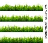 grass banners set. nature... | Shutterstock .eps vector #588347495