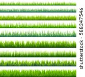 grass banners set. nature... | Shutterstock .eps vector #588347546