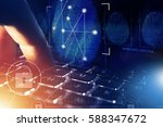 online security check and... | Shutterstock . vector #588347672