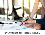 business analyst working on... | Shutterstock . vector #588348662