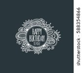 happy birthday to you in a... | Shutterstock .eps vector #588354866