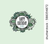 happy birthday to you in a... | Shutterstock .eps vector #588354872