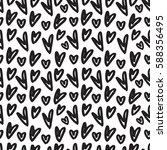 hand drawn seamless pattern... | Shutterstock .eps vector #588356495