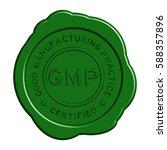 green gmp  good manufacturing... | Shutterstock .eps vector #588357896