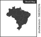 the detailed map of the brazil... | Shutterstock .eps vector #588358196
