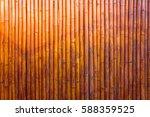 Gold Bamboo Fence Background...