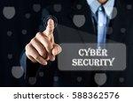 conceptual   business man... | Shutterstock . vector #588362576