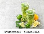 fat burning green fruit... | Shutterstock . vector #588363566