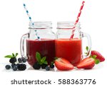 smoothies from summer berries  ... | Shutterstock . vector #588363776