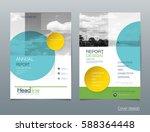vector design brochure flyer ... | Shutterstock .eps vector #588364448