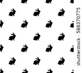 seamless rabbit pattern to... | Shutterstock .eps vector #588370775