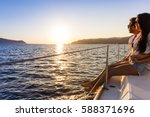 Romantic Couple On Yacht At...