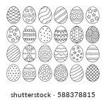 vector illustration  black  egg ...   Shutterstock .eps vector #588378815