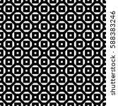 repeated white figures on black ... | Shutterstock .eps vector #588383246