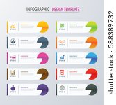 modern tab index infographic... | Shutterstock .eps vector #588389732