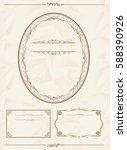 frame set vector  | Shutterstock .eps vector #588390926