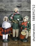 Small photo of Three vintage Christmas caroler dolls