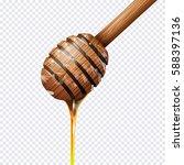 honey dipper on transparent... | Shutterstock .eps vector #588397136