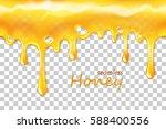 seamless dripping honey... | Shutterstock .eps vector #588400556