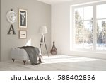 white room with chair and... | Shutterstock . vector #588402836