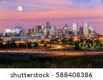 panorama of denver skyline long ... | Shutterstock . vector #588408386