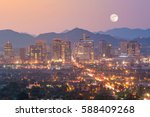 top view of downtown phoenix... | Shutterstock . vector #588409268