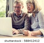 mature couple digital...   Shutterstock . vector #588412412