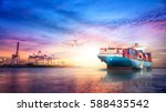 logistics and transportation of ... | Shutterstock . vector #588435542