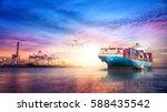 logistics and transportation of ... | Shutterstock . vector #588435542