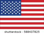 american flag of the united... | Shutterstock .eps vector #588437825