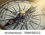 old compass. macro shot | Shutterstock . vector #588438212